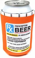 Beer Soda Pop Can Cooler Holder Prescription Bottle Coozi Koozie Cozy 12oz