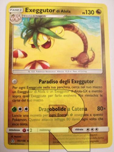 ® UltraPrisma 95//156 ® Rara ® Pokemon ® Italiano Exeggutor Di Alola Alolan