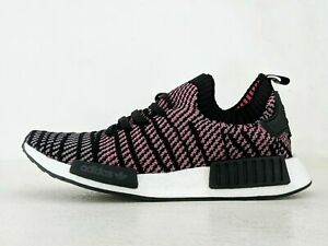 ADIDAS-NMD-R1-STLT-PK-PRIMEKNIT-BLACK-WHITE-PINK-MEN-SIZE-9-5-CQ2386-NEW-IN-BOX