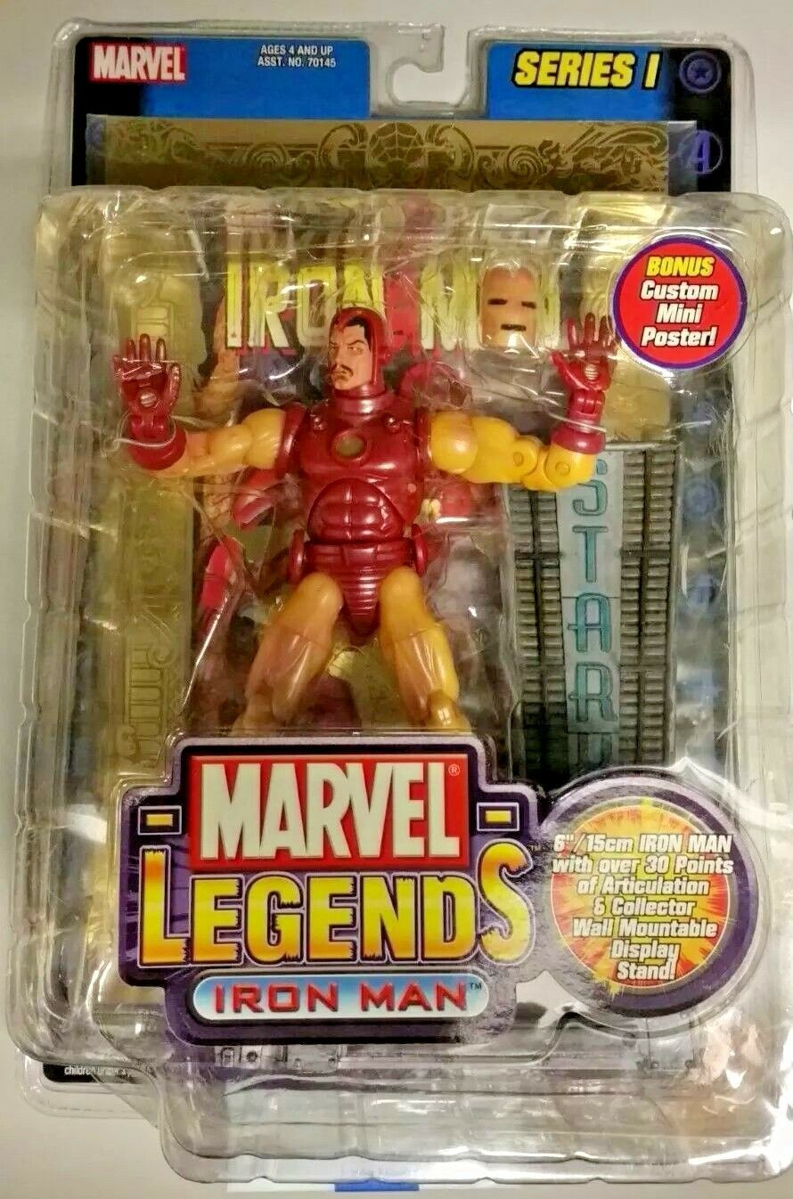 Marvel Legends Iron Man Series 1 with gold Foil Comic