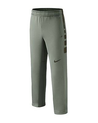 bb8579dd255d NWT Nike Elite Stripe Boys Therma-Fit Basketball Pants Grey 695222 S M L XL