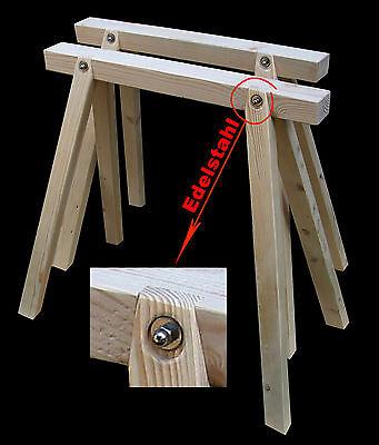 2 Neue Stützböcke Holzböcke Arbeitsbock, Montagebock,mit Edelstahlverbindung Im Sommer KüHl Und Im Winter Warm
