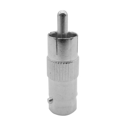 2 pcs BNC Female AV Plug to RCA Male Coax Adapter Connector For CCTV Camera