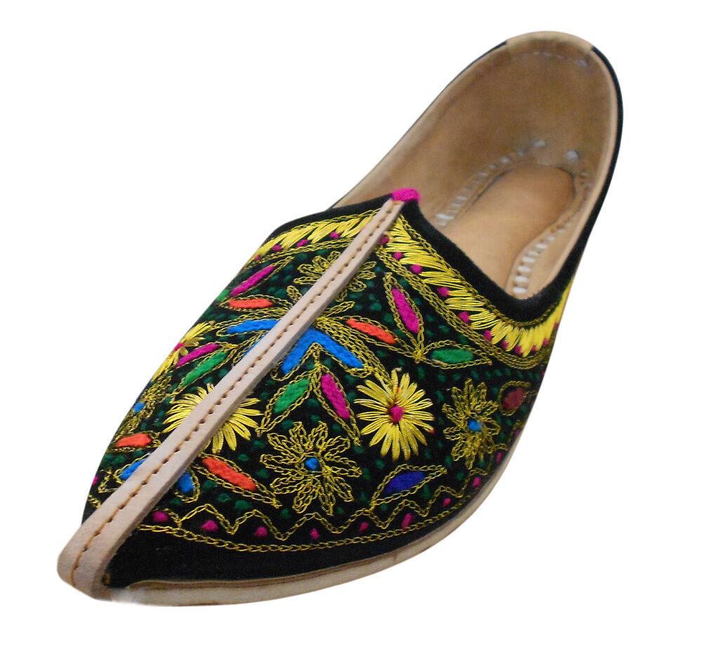 Mojari Shoes Genuine Leather Flip-Flops Men Shoes Mojari Indian Espadrilles Jutti US 8-13 de2d58