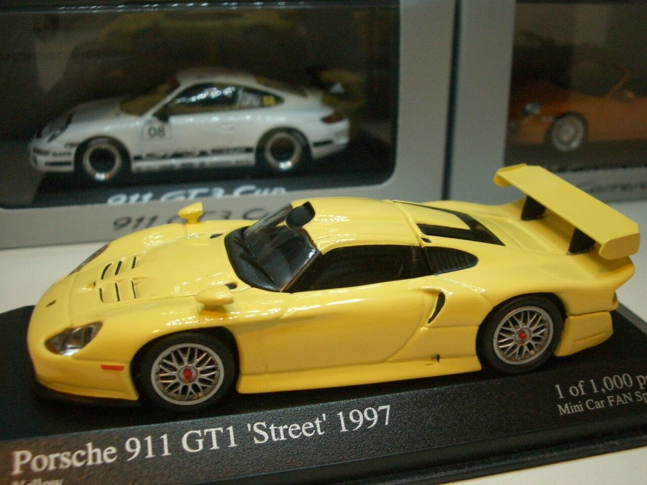 1/43 Minichamps Porsche 911 GT1 (Mini Car FAN Special) diecast