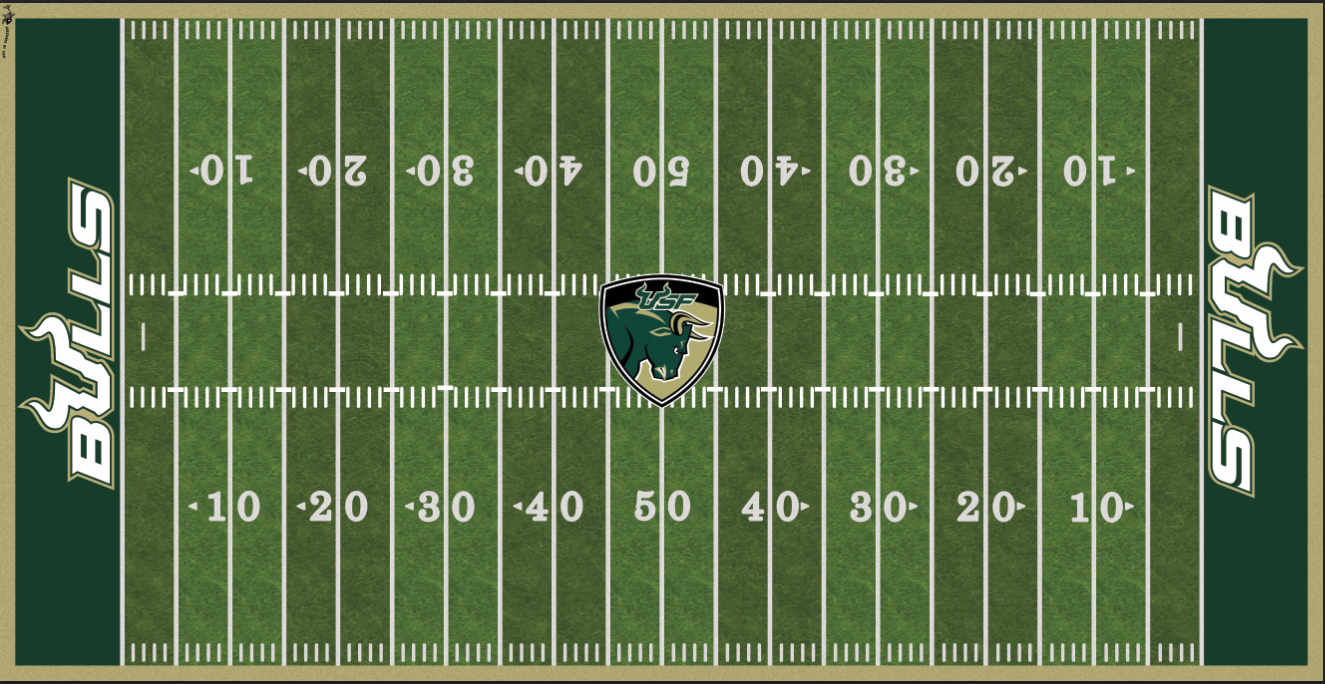 South Florida Bulls Electric Football Vinyl Field Cover Wall Art
