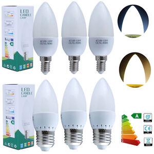Energy Saving E14 E27 3W = 35Watt SMD LED Chandelier Candle Light ...