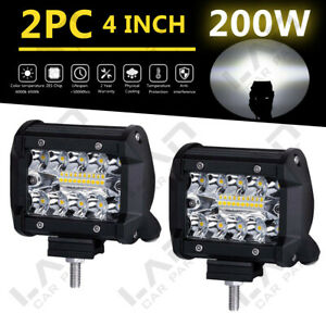 2X-4-034-CREE-LED-Work-Light-Bar-Cube-Pods-Flood-Driving-Lamp-For-Jeep-Truck-SUV-GZ