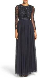 NWT-Needle-amp-Thread-Black-Embellished-Mesh-Butterfly-Gown-10-midnight-dress