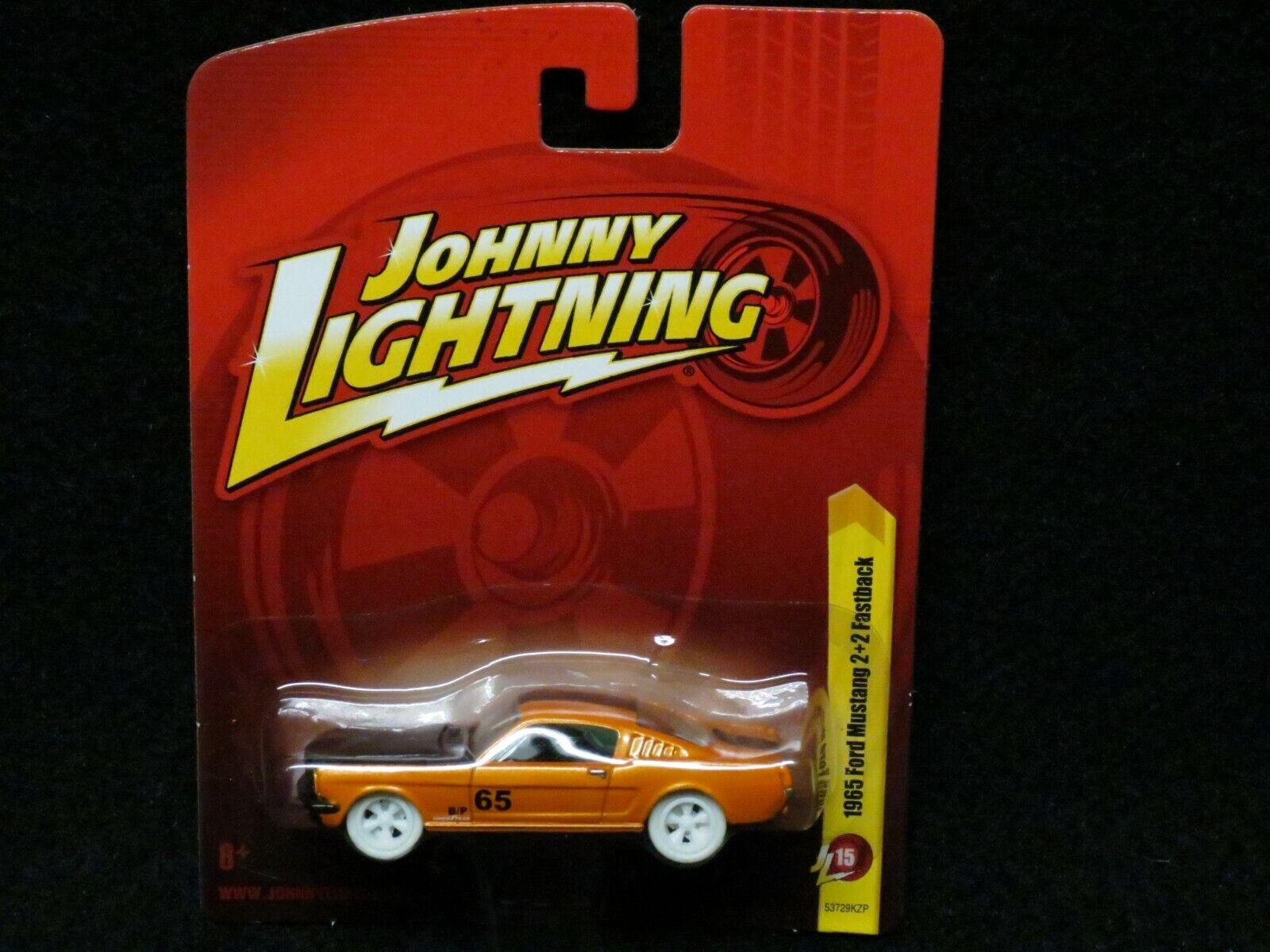 Johnny Lightning blanco Lightning 65 Mustang 2+2 Fastback