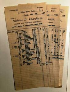 Vintage Grocery Receipts from 1939