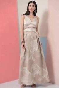 newest 27315 d0ddf Dettagli su Edas abito donna lungo Diodo vestito elegante ORO cerimonia  evening dress florea