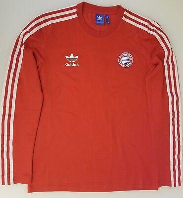 brand new 914ca 75382 Adidas Originals Bayern Munich JERSEY Mens T-shirt Long Sleeve Tee SZ  MEDIUM | eBay