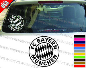 """2  BAYERN MUNCHEN  8/"""" CAR WINDOW  STICKERSBIKE HELMET DECALS GERMAN  BUMPERS"""