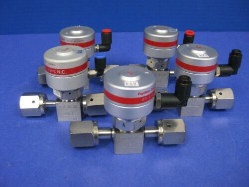"1//4/"" F UJR Lot of 5 Used Fujikin Mega-Mini LA FPR-SD-71-6.35-2 Pneumatic Valve"
