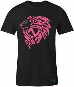 034-Amazing-Lion-034-Mens-T-Shirt-to-Match-Max-Aura-034-Hyper-Pink-Turbo-Green-034