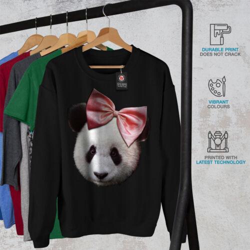 Black Men Felpa Funny Cute Panda Ribbon New xw7BqzTH