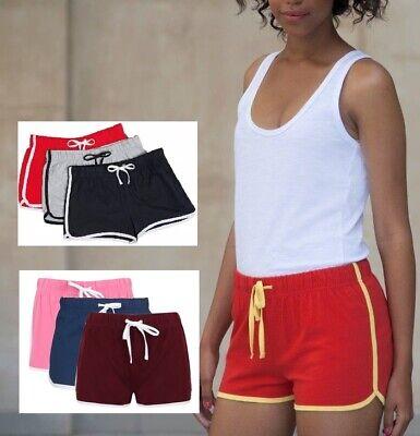 MüHsam Womens Ladies Sizes 8-18 Girls 5-12 Years Retro Training Fitness Sports Shorts Letzter Stil