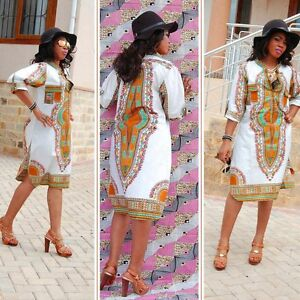 Women-African-Party-Hippie-Traditional-Tribal-Casual-Short-Mini-Dresses-Fashion