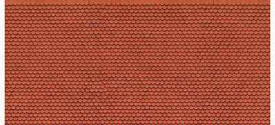 56690 Noch Ho Cartoncino In 3d Tegole Canadesi Misure Mm. 250 X 125