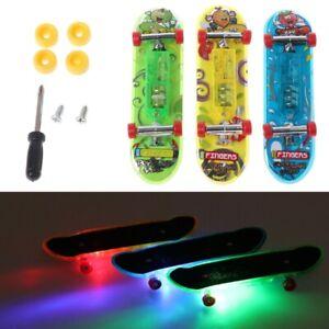 2pcs Led Mini Skateboard Finger Board Tech Deck Kids Toys Children Gift Baby Toy Ebay