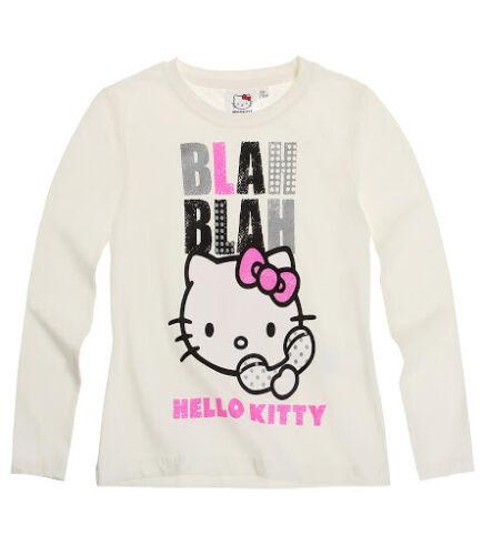 Hello Kitty Langarmshirt Sweatshirt Shirt Blah Blah Größe 128