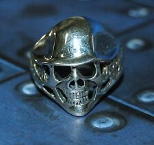 Men's Sterling silver German Half Helmet Skull Biker Ring