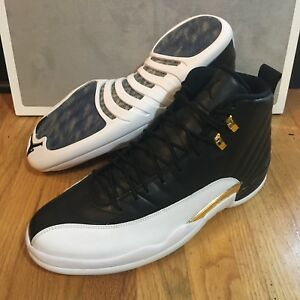 info for f116a 9de01 Details about Nike Air Jordan Retro 12 Wings Men's Size 14 Black Metallic  Gold White DS New