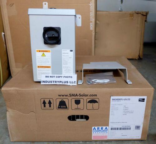 New Sunny Boy SB3000TL-US-22 SMA White SB 3000TL grid tied Inverter w//DC Disconn