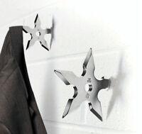 Lot2 : Ninja Star Coat Hook (throwing Star Shuriken Design) High Quality