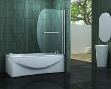 SAILO 90 x 140 cm Badewannen Faltwand Duschwand Duschabtrennung Duschwand