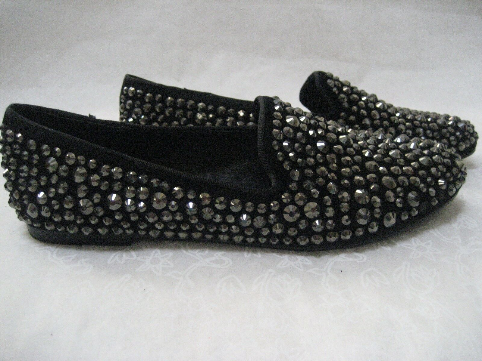 $129 STEVEN BY STEVEN MADDEN BLACK RHINESTONE LOAFERS SHOES SIZE 9 M - NEW