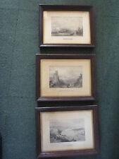 3 Antique Prints - Port Constantinople /Buda & Pesth /Molk, Castle of Weiteneck