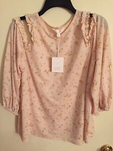 New-Never-Worn-Lauren-Conrad-Cold-Shoulder-Top-Size-Large-Very-Pretty