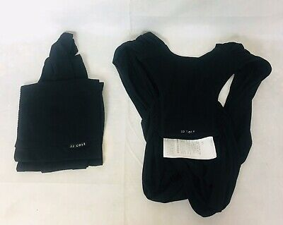 Black Extra Large Baby Wrap Carrier XL JJ Cole Agility Stretch Carrier