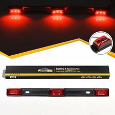 Red Clearance ID BAR Marker Light 3 Light 9 LED Trailer Sealed Stainless Steel