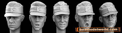 Hornet 1/35 5x Heads with WWII German M43 Field Caps #HGH01