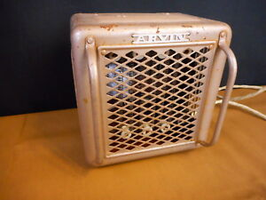 Vintage Arvin Electric Space Room Heater Tan For Parts Not