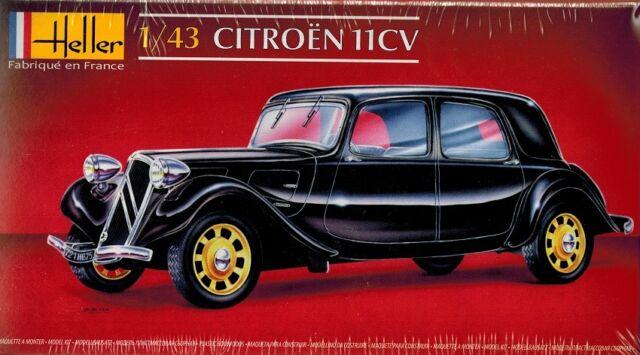 Heller Citroen 11 CV Legere Modell-Bausatz 1:43 TIPP Modell-Bausatz NEU OVP kit