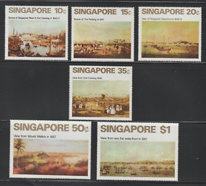 (31)SINGAPORE 1971 ART JUMBO SIZE SET 6V FRESH MNH ATTRACTIVE STAMPS CAT RM 240