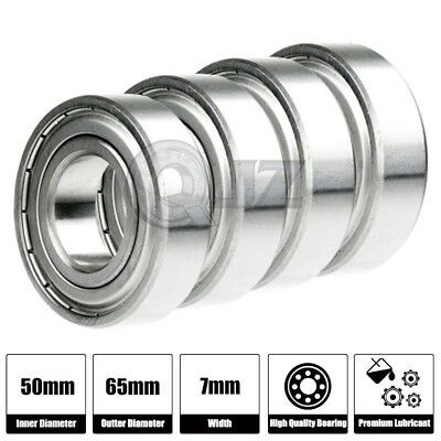 8x 6810-2RS Ball Bearing 50mm x 65mm x 7mm Rubber Seal Premium RS 2RS Shielded