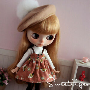 Tii-beret-dress-outfit-12-034-1-6-doll-Blythe-Pullip-azone-Clothes-Handmade-girl