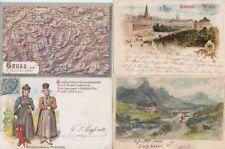 AUSTRIA ÖSTERREICH 29 Vintage LITHO GRUSS AUS Postcards with BETTER