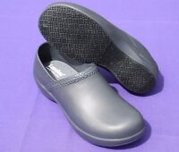 Landau Foot Worx Comfort Unisex Clog Shoe Graphite W10/m8 Therapy For Your Feet