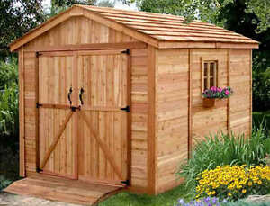 Outdoor living today 8x12 spacemaker storage shed sm812 for Garden shed tab