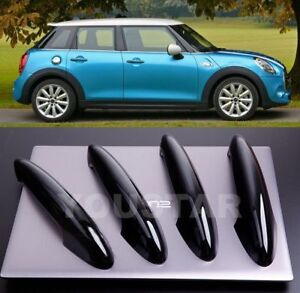 Uk Stock X4 Gloss Black Door Handle Cover For Bmw Mini Cooper F55 F60 Countryman Ebay
