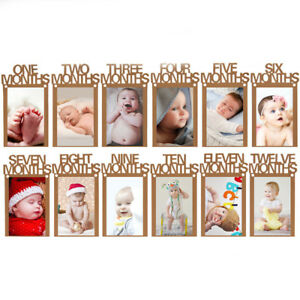 1 12 Month Baby Photo Frame Garland Birthday Party Banner Hanging