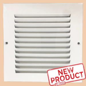 6-x-6-034-Air-Return-Vent-Cover-Duct-Size-Grille-Steel-Wall-Sidewall-Ceiling-White