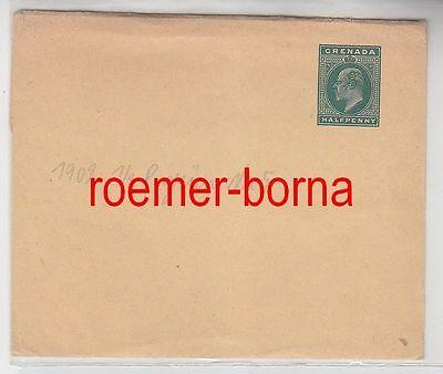 68375 Alter Ganzsachen Brief Grenada 1/2 Penny Grün 1902 Grenada