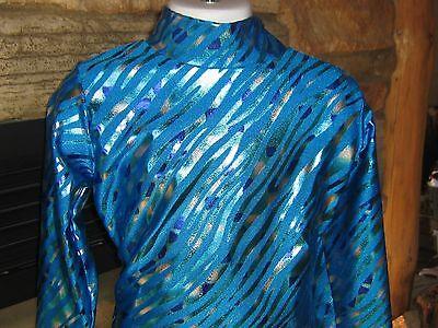 5 girl sizes Turquoise slinky western show shirt rail leadline xs S M L XL